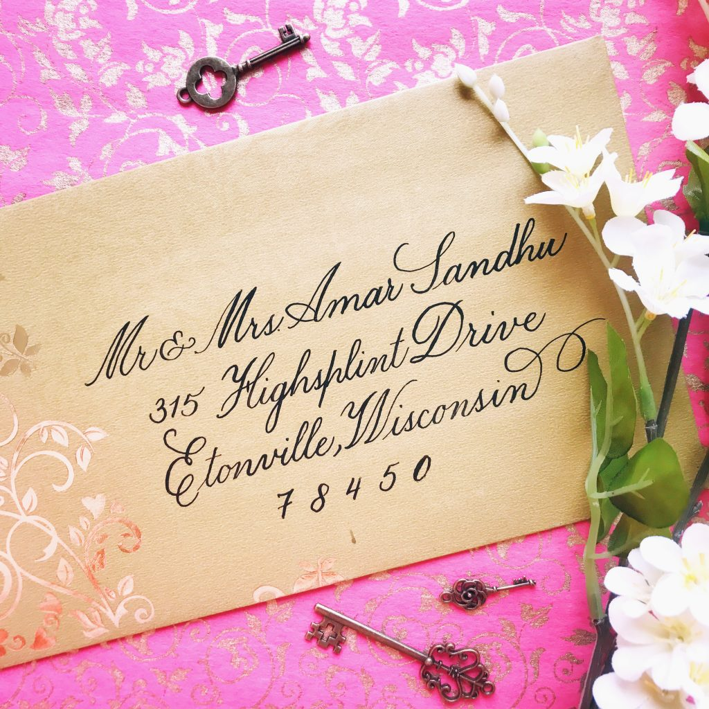 Copperplate – Wedding Envelope Calligraphy
