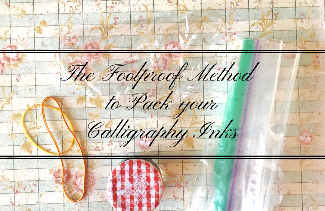 The Foolproof Method to Pack your Calligraphy Inks for Travel