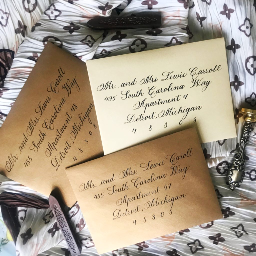 Copperplate Script- Envelope Calligraphy