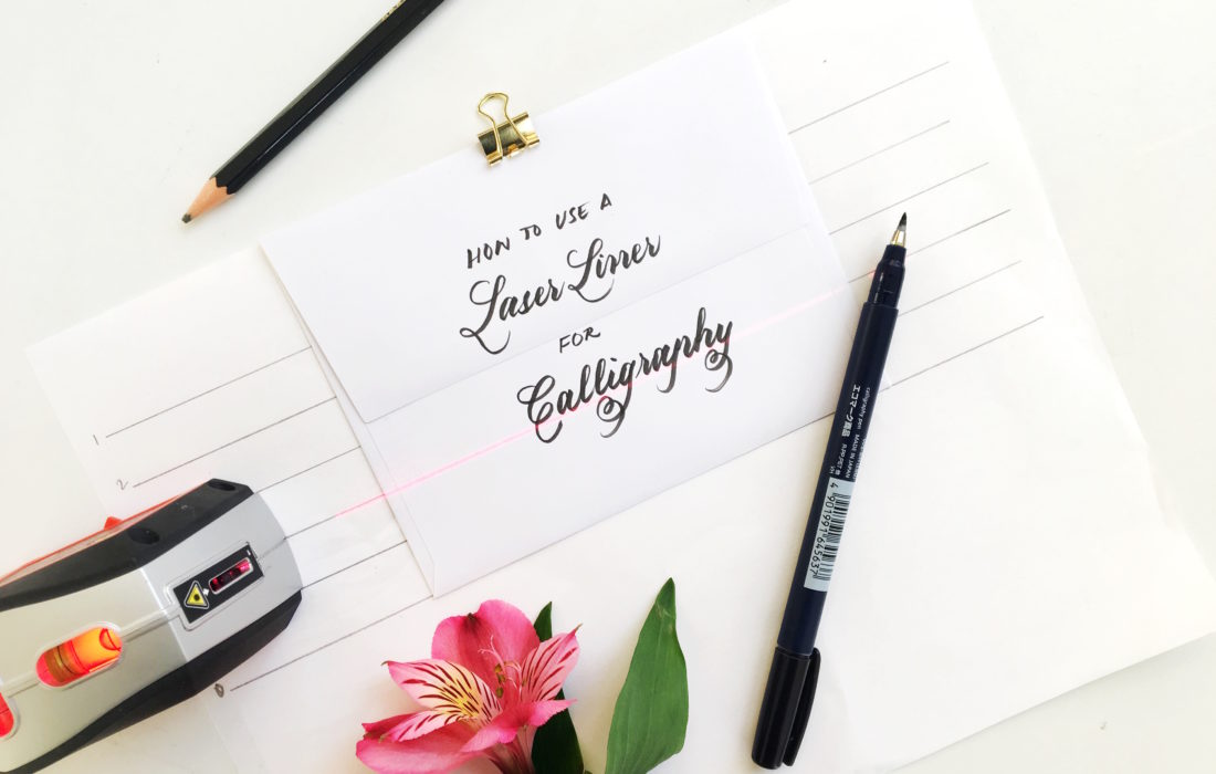 How to Use a Laser Liner for Calligraphy