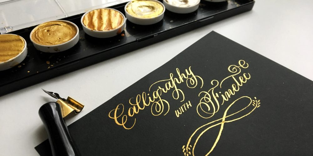 How to Create Stunning Calligraphy Using a Finetec Gold Palette