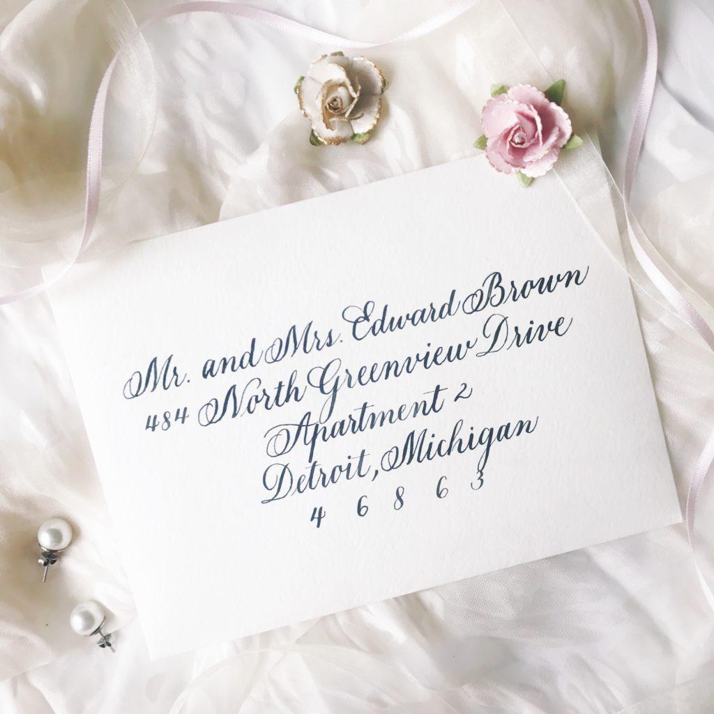 Copperplate Calligraphy - Handwritten Wedding Invitation