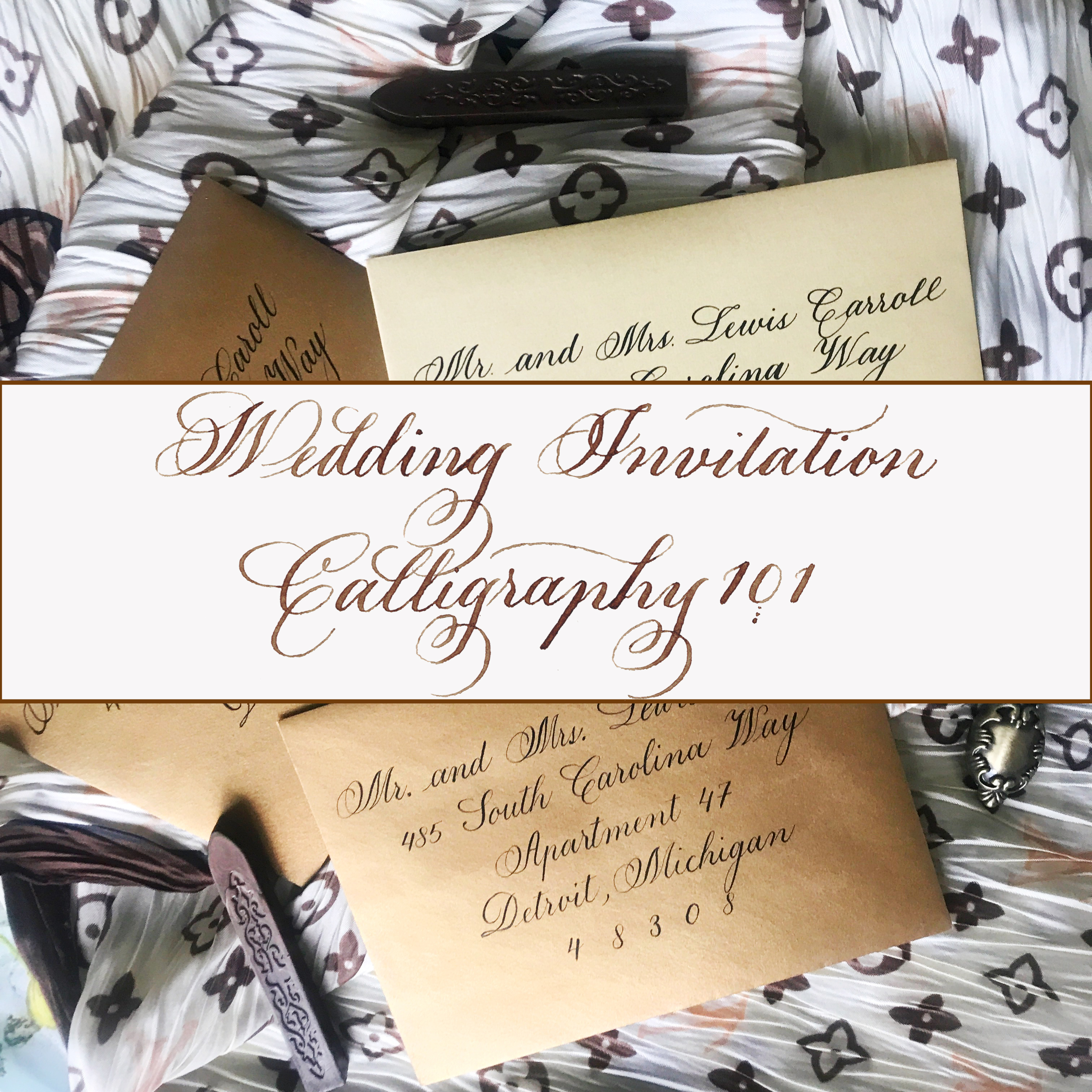 Wedding Invitation Calligraphy 101 - Everything you Need to Know