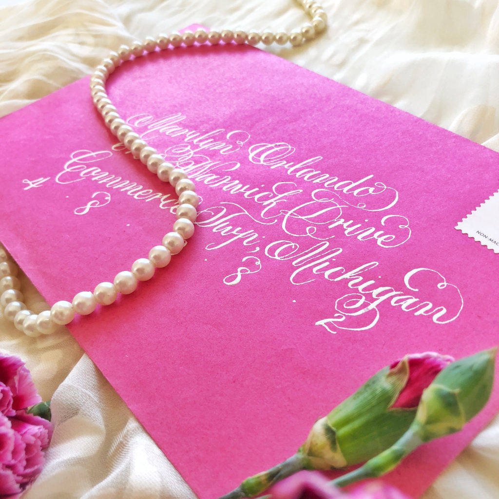 Parisian Font- Envelope Calligraphy - Calligraphy Quill