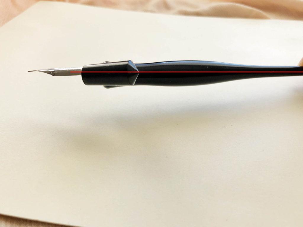 Texas Ebony oblique pen holder